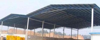 岩棉彩钢瓦雨棚工程